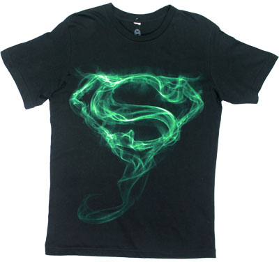 Green Smoke Logo - Superman T-shirt