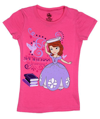 Princess In Training - Sofia The First Girls T-shirt