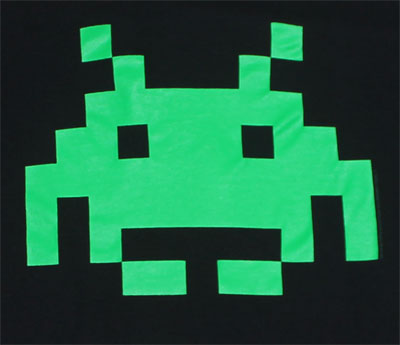 Bright Space Invader - Space Invaders T-shirt