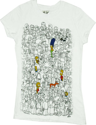 Color Simpsons - Simpsons Sheer Women's T-shirt