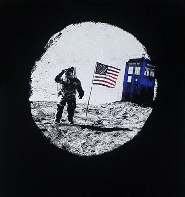 Tardis Moon Landing - Dr. Who T-shirt