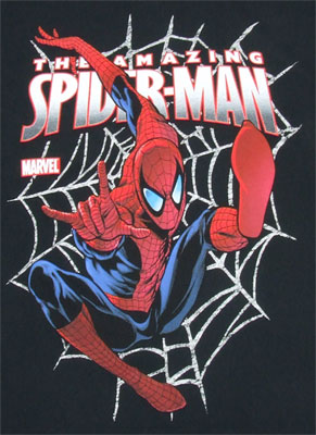 Jumping Through Web - Spider-Man - Marvel Comics T-shirt