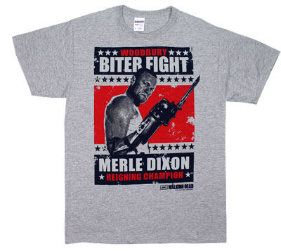 Merle Biter Fight Card - Walking Dead T-shirt