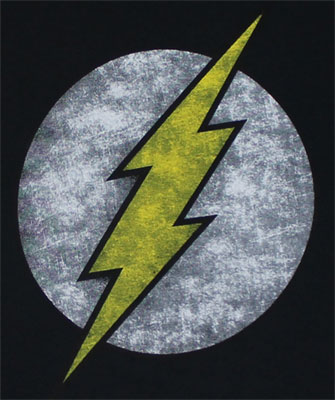 Faded Flash Logo On Black - DC Comics T-shirt