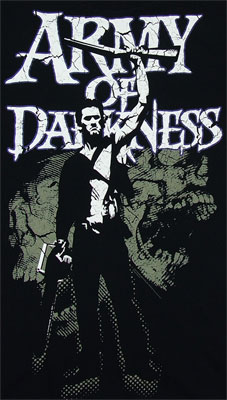 Skull Background - Army Of Darkness T-shirt