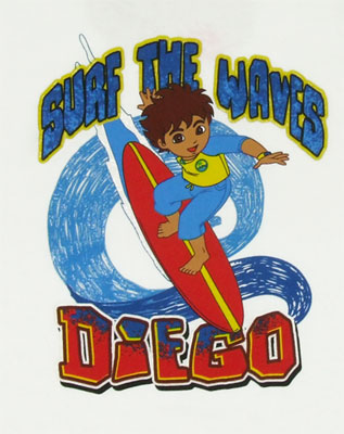 Surf The Waves - Go Diego Go Youth T-shirt
