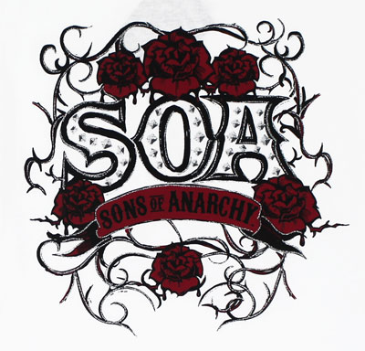 SOA Rose Vine - Sons Of Anarchy Sheer Women's T-shirt