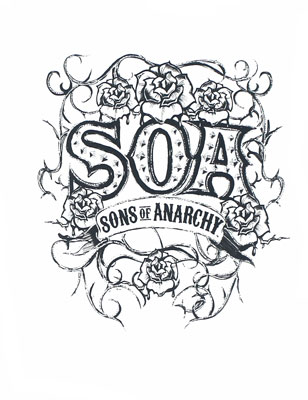 Tribal Roses - Sons Of Anarchy Juniors Long Sleeve T-shirt