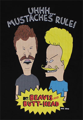 Mustaches Rule - Beavis And Butthead T-shirt