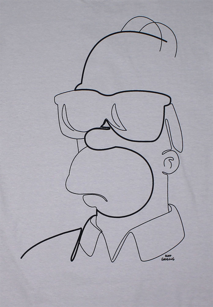 Homer Abstract Lines - Simpsons T-shirt