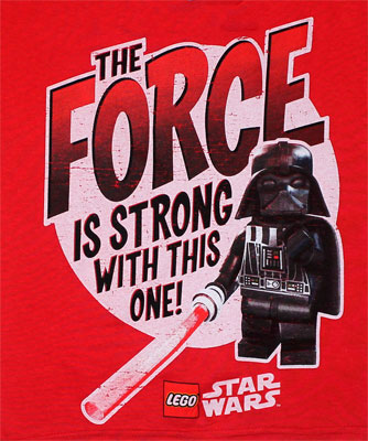 The Force Is Strong With This One! - Lego Star Wars Juvenile T-shirt