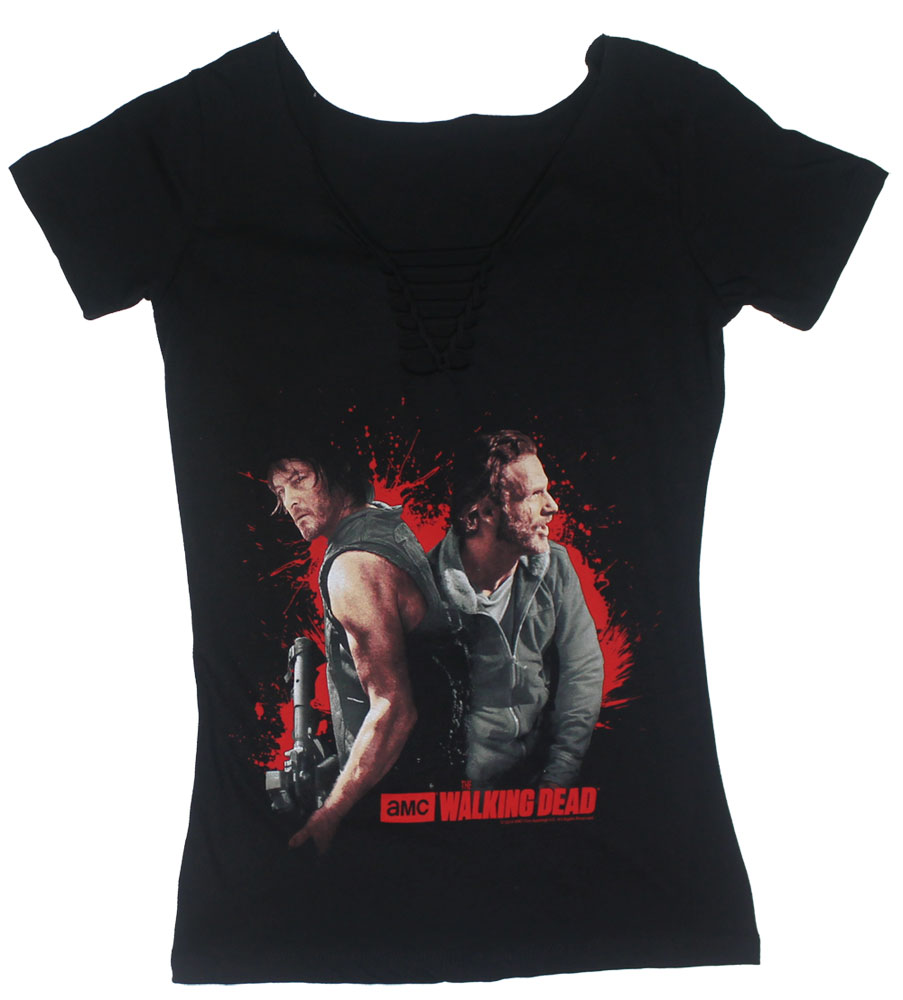 I Got Your Back - Walking Dead Juniors Braided V-Neck T-shirt