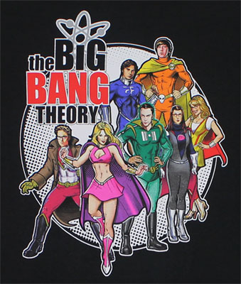 Superheroes - Big Bang Theory T-shirt