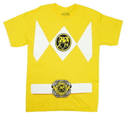 Yellow Ranger Costume - Mighty Morphin Power Rangers T-shirt