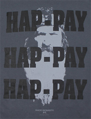 HAP-PAY Face - Duck Dynasty T-shirt