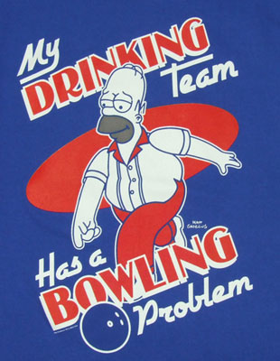 My Drinking Team Has A Bowling Problem - Simpsons T-shirt