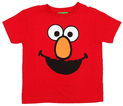 Elmo Face - Sesame Street Juvenile T-shirt