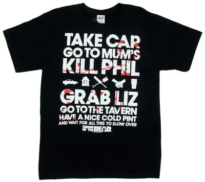 The Plan - Shaun Of The Dead T-shirt