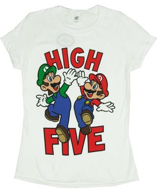 High Five - Mario And Luigi - Nintendo Sheer Women's T-shirt