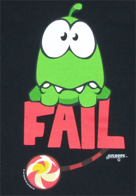 Fail - Cut The Rope T-shirt