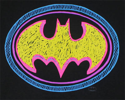Batman Scribble Logo - DC Comics T-shirt