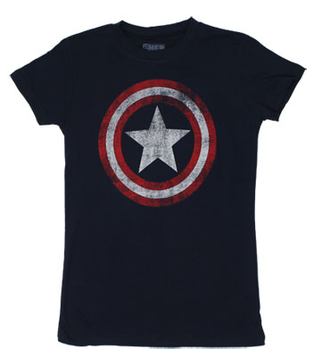 Captain America Logo - Marvel Comics Sheer Women&#039;s T-shirt