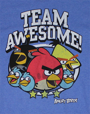 Team Awesome - Angry Birds T-shirt