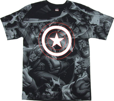 Captain America All Over - Marvel Comics T-shirt
