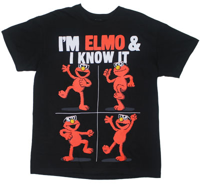 I&#039;m Elmo &amp; I Know It - Sesame Street T-shirt