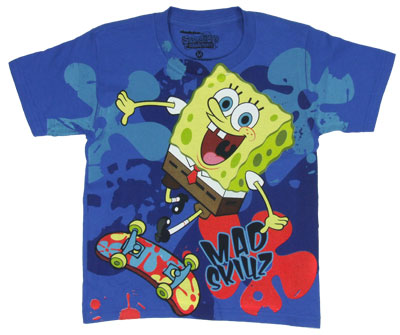 Mad Skillz - Spongebob Squarepants Juvenile T-shirt