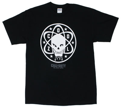 Circle Zombie Logo - Call Of Duty Black Ops T-shirt