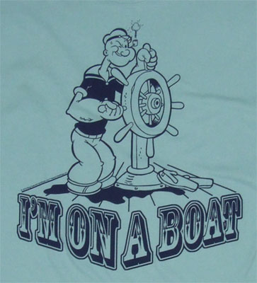 Popeye On The Boat - Popeye Sheer T-shirt