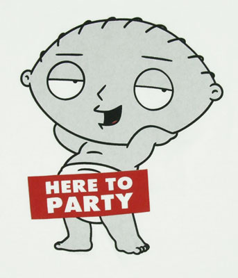 Here to Party - Family Guy T-shirt
