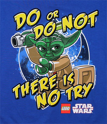 There Is No Try - LEGO Star Wars Juvenil T-shirt