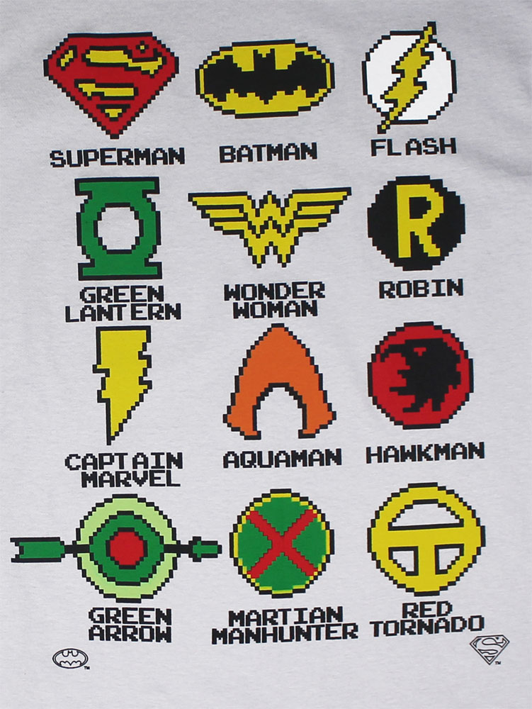Pixelated Logos - DC Comics T-shirt