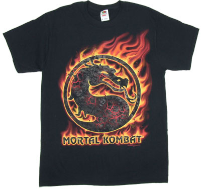 Mortal Combat Flame Logo - Mortal Kombat T-shirt