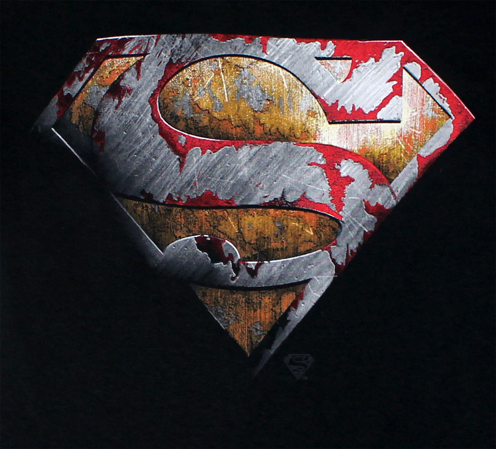 Superman Metal Shield - DC Comics T-shirt