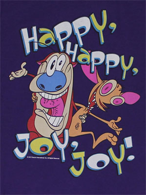 Happy, Happy, Joy, Joy! - Ren And Stimpy Sheer Women's T-shirt