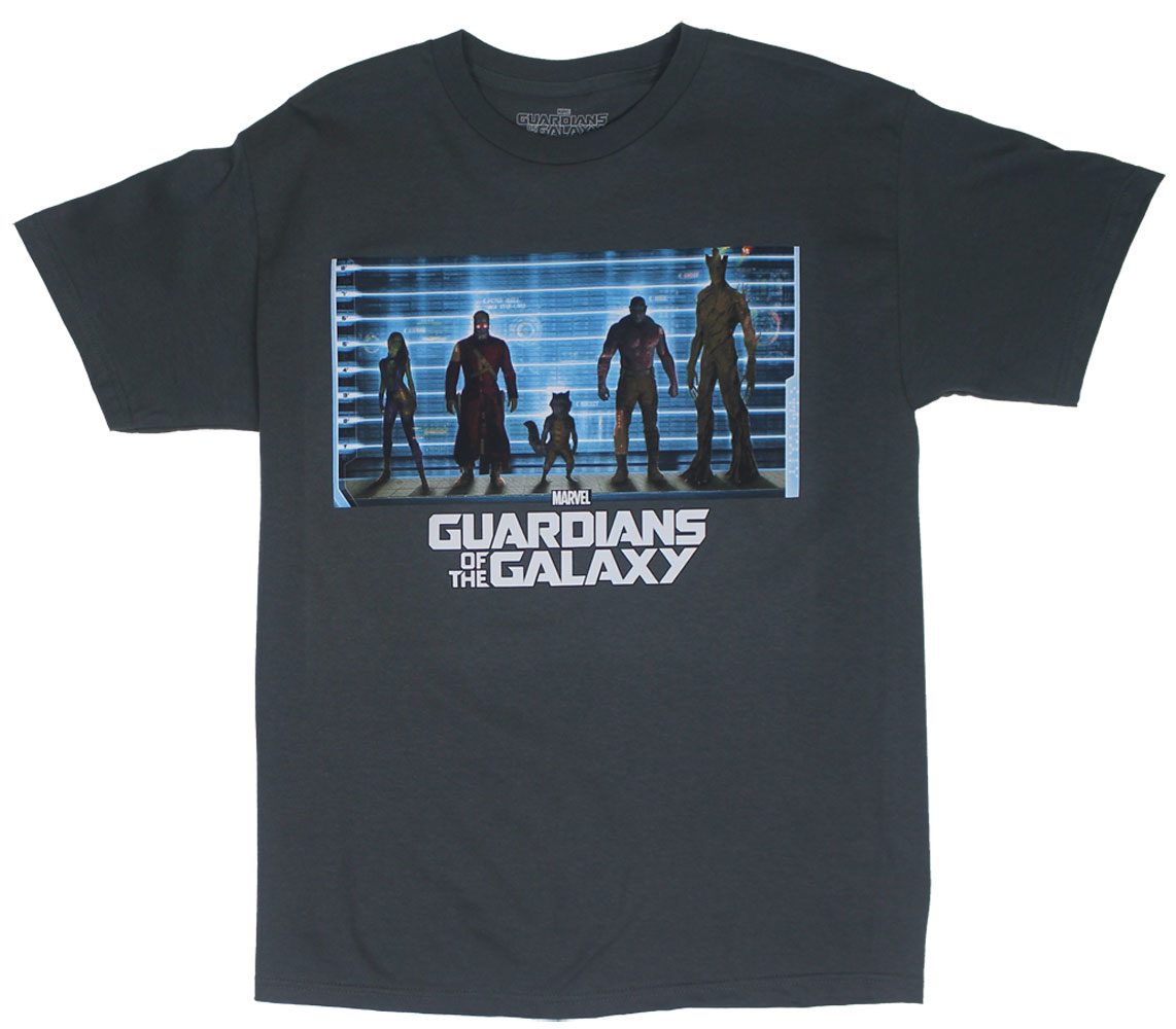Lineup - Guardians Of The Galaxy T-shirt