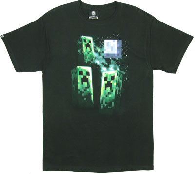 Three Creeper Moon - Minecraft T-shirt
