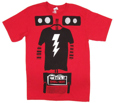 Big Bang Theory Shel-Bot Mens Tee