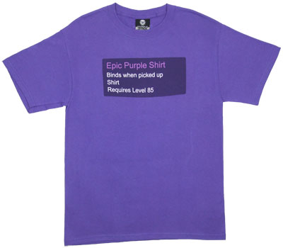 Epic Purple Shirt - World Of Warcraft T-shirt