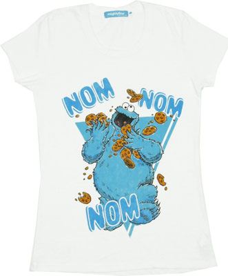 Nom Nom Nom - Sesame Street Sheer Women&#039;s T-shirt
