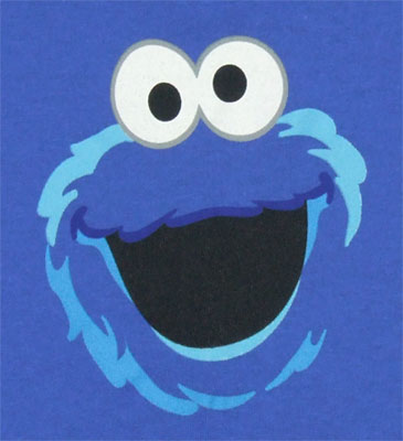 Cookie Monster Face - Sesame Street Infant T-shirt