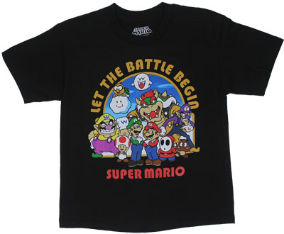 Let The Battle Begin - Nintendo Youth T-shirt