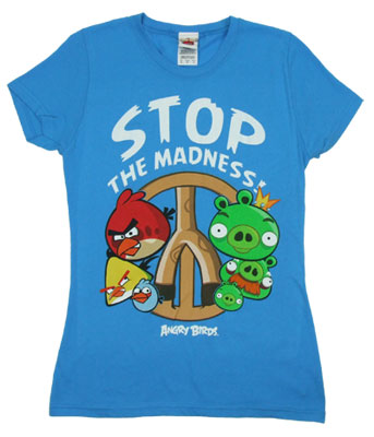 Stop The Madness - Angry Birds Sheer Women's T-shirt