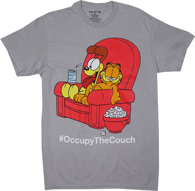 #OccupyTheCouch - Garfield T-shirt