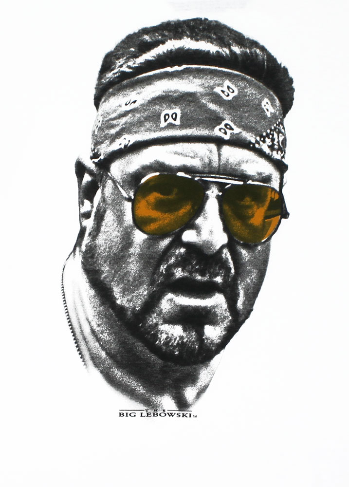 Walter Orange Glasses - Big Lebowski T-shirt