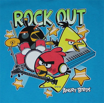 Rock Out - Angry Birds Youth T-shirt