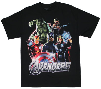 Five Heroes - Avengers T-shirt